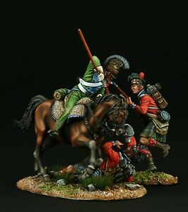 Tin soldier, Museum (TOP) French Cuirassier and Highlanders 54 mm, Napoleonic