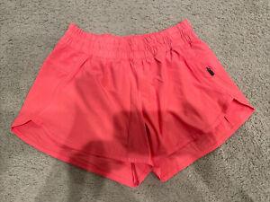 "🌼Lululemon Tracker Short V Size 8 Womens 4"" Pink Stretch EUC"