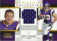 2010 Panini Threads Rookie Collection Materials #35 Toby Gerhart Jersey /299
