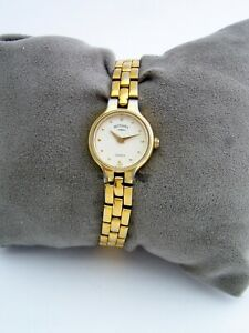 ROTARY WOMENS WATCH 3160 VINTAGE GOLD STAINLESS STEEL BRACELET GENUINE