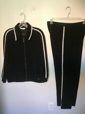 St John Sport Black Track Suit with White Trim - Size S