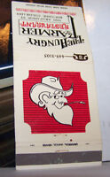 Rare Vintage Matchbook Cover B7 The Hungry Farmer Boulder Colorado Hillbilly