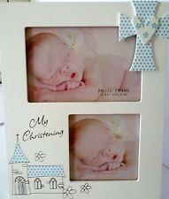 "Baby Boy Keepsake ""My Christening"" Timber Photo Frame Baby Shower, Newborn Gift"