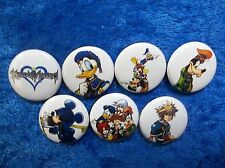 """1"""" pinback button set inspired  by """"Kingdom Hearts"""" Final Fantasy"""