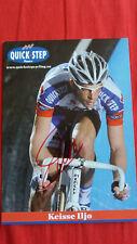 Iljo Keisse autographe signé autogramm radsport cyclisme dedicace