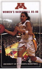 2005-06 UNIVERSITY OF MINNESOTA GOPHERS WOMEN'S BASKETBALL POCKET SCHEDULE