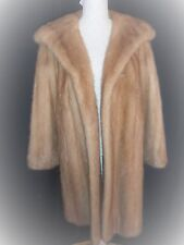 Three Quarter  Honey Blonde Mink Coat -  beautiful and odour free