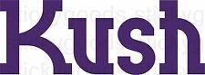 "(2X) Purple ""Kush"" Vinyl Decal Stickers Glass Water Pipe Glass Bubbler Stash Jar"