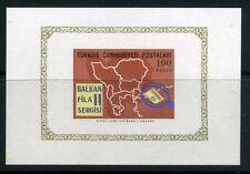 TURKEY;  1966 early Balkaphila issue S.SHEET  fine Mint hinged item