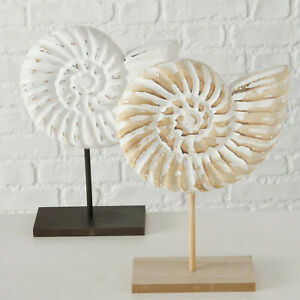 Wood Beach Ocean Sea Life Shell Shore On Stand Home Bathroom Ornaments On Stand