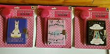 LOCK DIARY WITH  FUZZY PEN, PADLOCK & KEYS 3 DIFFERENT TO CHOOSE FROM NEW SEALED
