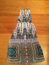 Nanette Lepore Swim Dress Paros Paisely Cover Up Dress SZ Medium White Blue $168