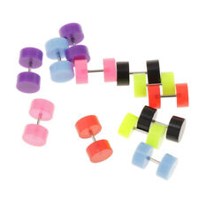 12pcs Faux Fake Guage Cheater Acrylic Earring Stud Barbell Ear Plug Earlet