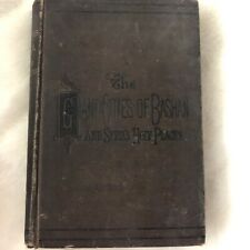 The Giant Cities Of Bashan And Syria's Holy Places 1884 Rev. J.L. Porter