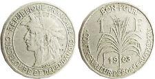 GUADELOUPE  ET  DEPENDANCES  ,  1  FRANC  1903