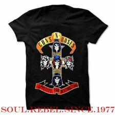 GUNS AND ROSES CROSS PUNK ROCK T SHIRT MEN'S SIZES