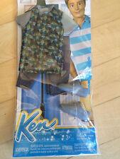 NEW Barbie Ken Doll Clothes        Silver Shoes Geometric Shirt Jeans VHTF
