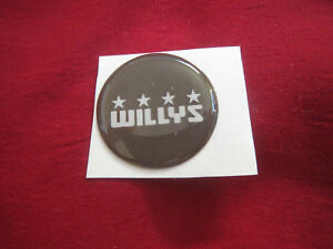 WILLYS JEEP VINTAGE LOGO 1930's 1940's 1950s EMBLEM LOGO STEERING WHEEL DECAL 1""