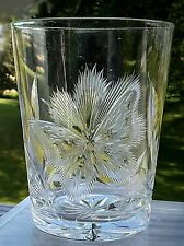 Pairpoint American Brilliant Cut Butterfly Glass Tumbler Pristine