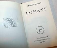 Letteratura Francese - André Malraux: Romans Romanzi 1969 La Pleiade ex libris