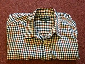 PRINGLE  MENS LONG SLEEVE  CHECK SHIRT    SIZE S