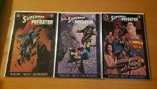 Superman Vs. Predator 1-3 Complete Set Run! ~ NEAR MINT NM ~ 2000 DC Comics
