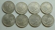 Gibraltar Large Size Decimal 10p Coin Collection 8 Different Date or Die Letters