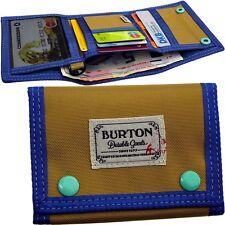BURTON klein GELDBÖRSE purse PORTMONEE wallet GELDBEUTEL holz & blau STOFF NEU