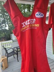 Inzer Max DL Powerlifting Deadlift Suit Red Size 40