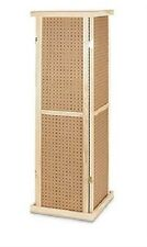Pegboard Tower Display 4 Sided Spinner Top Base Hinged Rotating Peg Board 5' H