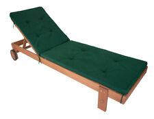 Liegenauflage Polsterauflage Rollliege Gartenliege Auflage DENVER 196x58cm grün