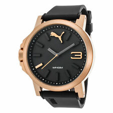 Puma PU103462014 Men's Lefty Black Dial Black Silicone Band Watch