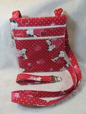 Peanuts Valentine Theme Fabric Crossbody Bag -FREE SHIPPING