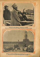 Alphonse/Alfonso XIII de Espana Madrid Airport Spain Plane WWI 1914 ILLUSTRATION