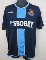 Umbro West Ham United Football Shirt 2009-10 Away Soccer Jersey Trikot Large L