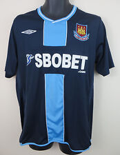 Umbro West Ham United Camiseta de fútbol 2009-10 lejos de Fútbol Jersey Camiseta Grande L