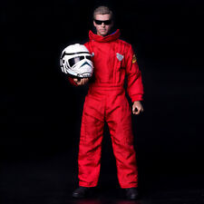 1/6 Scale Motorcycle Racing Suit Red Coverall For COO b34003 Action Figure Body