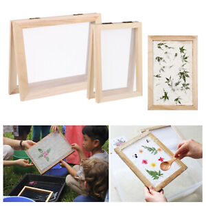 Wooden Paper Making Mould Frame Kit Duplex Mold DIY Craft Papermaking Tool Kit