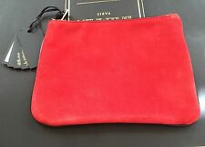 Authentic Balmain x H&M Small Suede Clutch Red BNWT