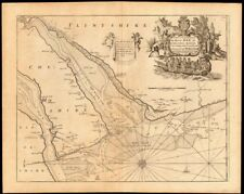 'The River Dee or Chester-Water' sea chart. Wirral Merseyside. COLLINS c1774 map
