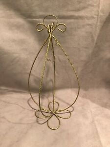Gold Glitter Ornament Stand 14 Inches Excellent Condition  Metal