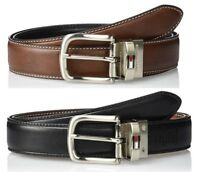 New Tommy Hilfiger Men's  Reversible Belt Brown/Black 11TL08X014