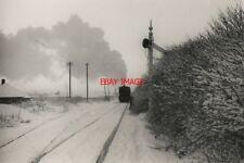 PHOTO  1970 AN NCB LOCO AT BURRADON NORTH TYNESIDE STEAM AND SNOW. AN NCB LOCO A