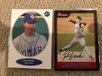 Zack Greinke Omaha Royals Just Minors 2004 & 2006 Topps Bowman RC In MINT Cond!!