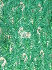 AMAZONIAN FOREST SEQUINS DRESS FABRIC - Kelly Green - BTY FASHION ACCESSORIES