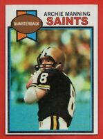 1979 Topps #383 Archie Manning PACK FRESH NEAR MINT+ New Orleans Saints FREE S/H