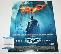 CHRISTIAN BALE SIGNED 'THE DARK KNIGHT' 11x14 MOVIE PHOTO BECKETT COA B BATMAN