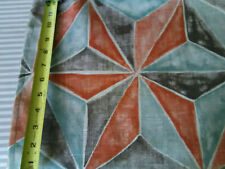 Vintage mid century abstract pinwheel cotton/linen fabric wild drapes curtains!