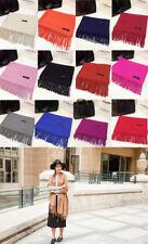 Women Ladies Winter Warm Pashmina Silk Cashmere Solid Long Shawl Wrap Scarf