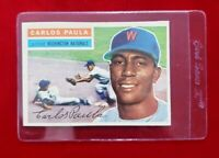 1956 Topps Set Break Carlos Paula #4 - EX-MT  (white back)